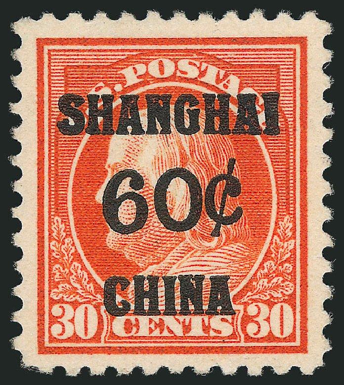 Costs of US Stamps Scott Cat. K14 - 1919 60c China Shanghai on 30c. Robert Siegel Auction Galleries, Dec 2011, Sale 1017, Lot 950
