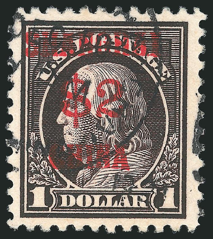 Values of US Stamp Scott Catalogue K16: US$2.00 1919 China Shanghai on $1. Robert Siegel Auction Galleries, Apr 2015, Sale 1096, Lot 888