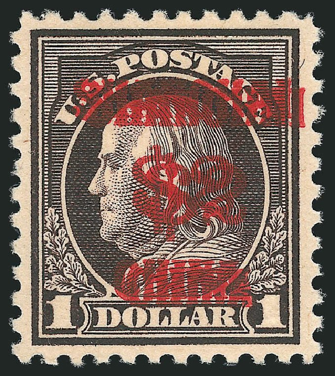 US Stamp Values Scott Cat. # K16 - US$2.00 1919 China Shanghai on $1. Robert Siegel Auction Galleries, Dec 2014, Sale 1090, Lot 1660