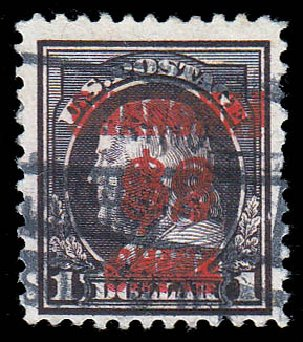 Prices of US Stamp Scott K16 - 1919 US$2.00 China Shanghai on $1. Daniel Kelleher Auctions, Jan 2015, Sale 663, Lot 2133