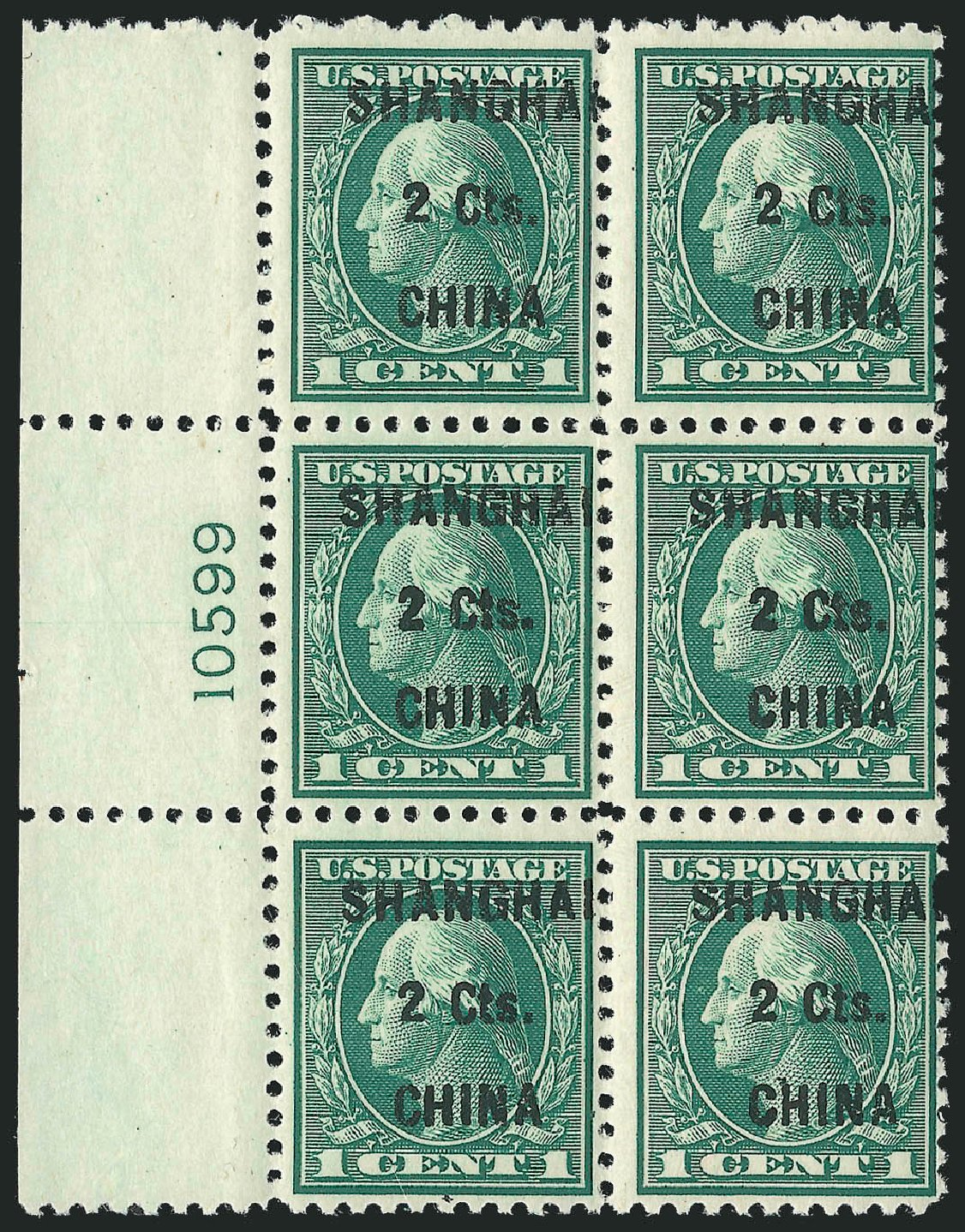 Cost of US Stamp Scott Catalogue K17: 2c 1922 China Shanghai on 1c. Robert Siegel Auction Galleries, Apr 2015, Sale 1096, Lot 891
