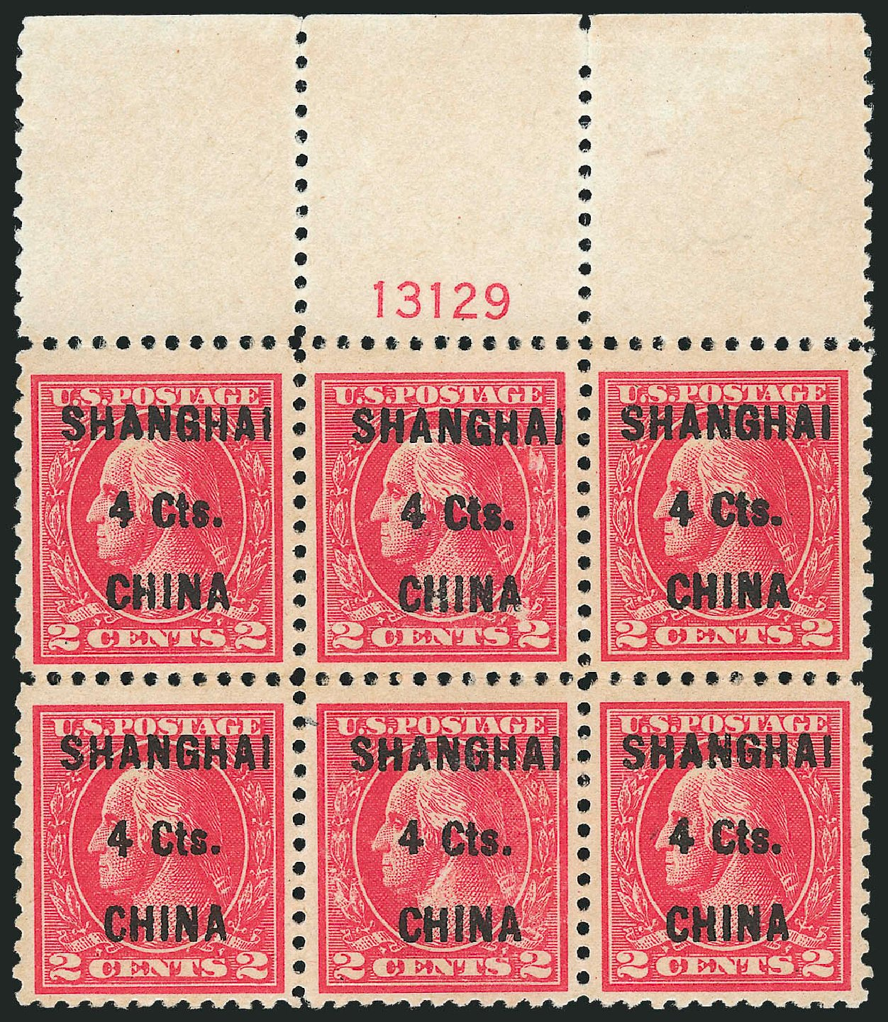Cost of US Stamp Scott Catalog #K18 - 4c 1922 China Shanghai on 2c. Robert Siegel Auction Galleries, Mar 2015, Sale 1094, Lot 139