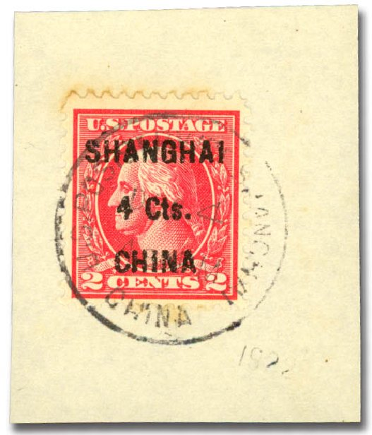 Price of US Stamp Scott Catalog #K18: 4c 1922 China Shanghai on 2c. Daniel Kelleher Auctions, Aug 2015, Sale 672, Lot 2970