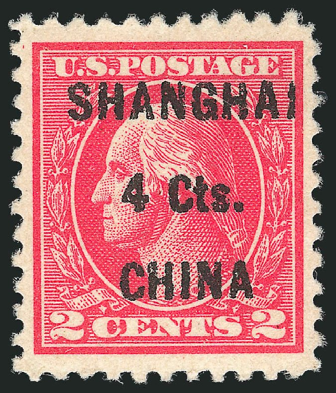 Costs of US Stamps Scott Cat. #K18: 4c 1922 China Shanghai on 2c. Robert Siegel Auction Galleries, Jun 2012, Sale 1026, Lot 1540