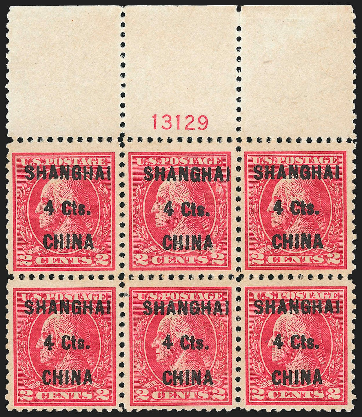 US Stamp Values Scott #K18: 4c 1922 China Shanghai on 2c. Robert Siegel Auction Galleries, Jul 2015, Sale 1107, Lot 620