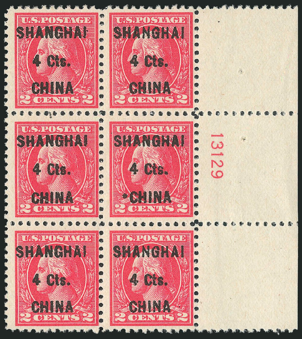 Price of US Stamp Scott #K18: 4c 1922 China Shanghai on 2c. Robert Siegel Auction Galleries, Oct 2011, Sale 1014, Lot 2341