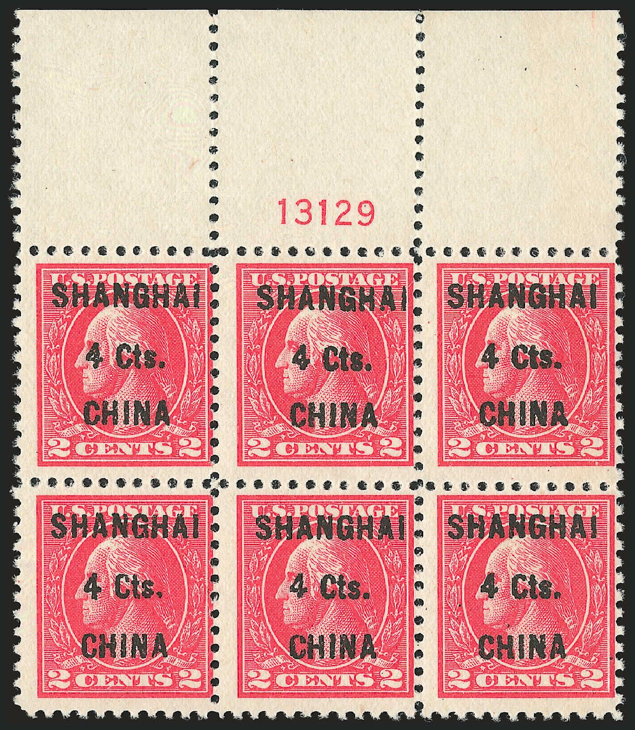 US Stamp Prices Scott Cat. # K18: 1922 4c China Shanghai on 2c. Robert Siegel Auction Galleries, Dec 2009, Sale 982, Lot 6134