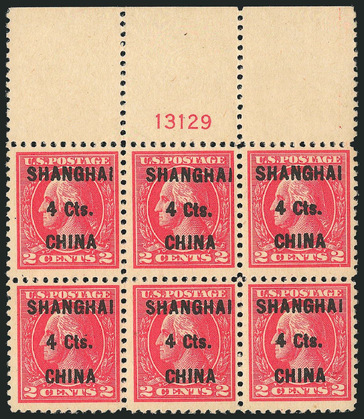 US Stamp Value Scott Cat. # K18 - 1922 4c China Shanghai on 2c. Robert Siegel Auction Galleries, Apr 2015, Sale 1096, Lot 893