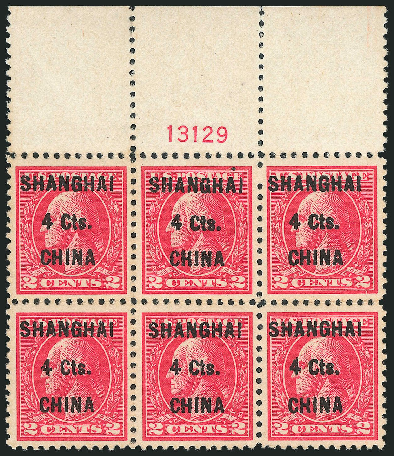 US Stamps Price Scott #K18: 4c 1922 China Shanghai on 2c. Robert Siegel Auction Galleries, Mar 2011, Sale 1007, Lot 3026
