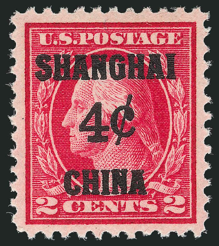Costs of US Stamps Scott # K2: 4c 1919 China Shanghai on 2c. Robert Siegel Auction Galleries, Dec 2012, Sale 1037, Lot 2316
