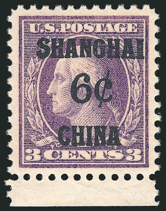 Costs of US Stamps Scott Catalogue #K3: 6c 1919 China Shanghai on 3c. Robert Siegel Auction Galleries, Oct 2012, Sale 1033, Lot 4291