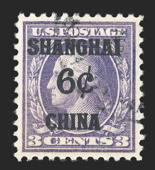 Value of US Stamps Scott Catalogue # K3 - 1919 6c China Shanghai on 3c. Spink Shreves Galleries, Jul 2012, Sale 140, Lot 381