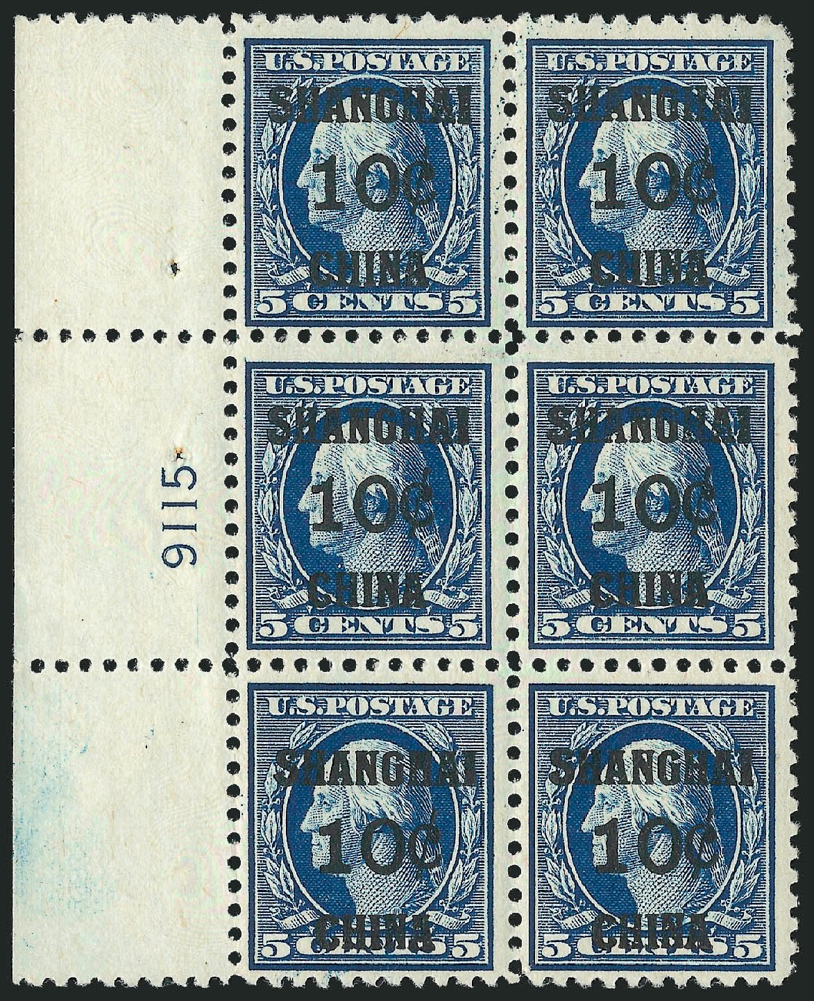 Cost of US Stamps Scott #K5 - 10c 1919 China Shanghai on 5c. Robert Siegel Auction Galleries, Mar 2015, Sale 1094, Lot 122