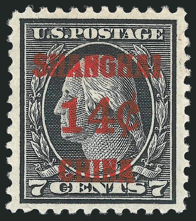 Price of US Stamps Scott # K7 - 1919 14c China Shanghai on 7c. Robert Siegel Auction Galleries, Nov 2013, Sale 1061, Lot 4138