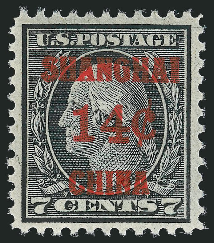 Values of US Stamps Scott #K7: 1919 14c China Shanghai on 7c. Robert Siegel Auction Galleries, Dec 2012, Sale 1037, Lot 2321