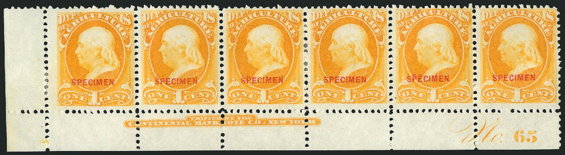 US Stamp Prices Scott #O1 - 1c 1873 Agriculture Official. Robert Siegel Auction Galleries, Mar 2015, Sale 1095, Lot 512