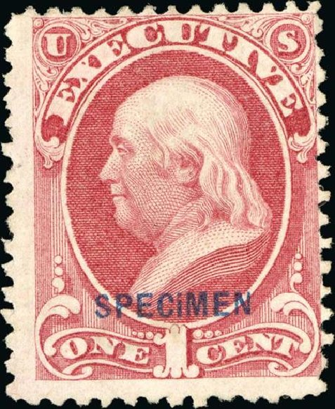 US Stamp Prices Scott Catalogue #O10: 1873 1c Executive Official. Spink Shreves Galleries, Jan 2015, Sale 150, Lot 249