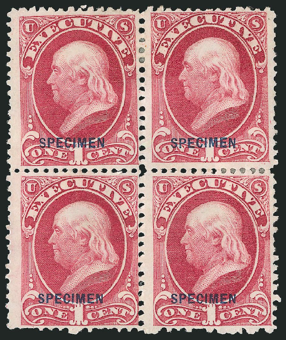 Costs of US Stamps Scott #O10 - 1873 1c Executive Official. Robert Siegel Auction Galleries, Mar 2015, Sale 1095, Lot 530