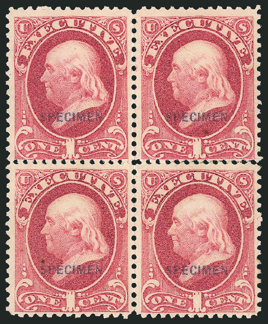 Cost of US Stamp Scott Catalog # O10: 1c 1873 Executive Official. Robert Siegel Auction Galleries, Mar 2015, Sale 1095, Lot 665