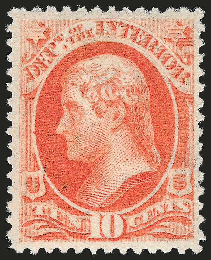 US Stamps Price Scott Catalog # O100: 10c 1879 Interior Official. Robert Siegel Auction Galleries, Jun 2009, Sale 975, Lot 2243