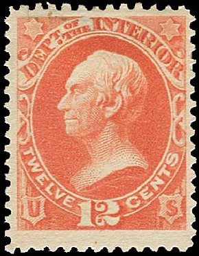 Costs of US Stamp Scott Cat. # O101: 1879 12c Interior Official. Regency-Superior, Aug 2015, Sale 112, Lot 1198