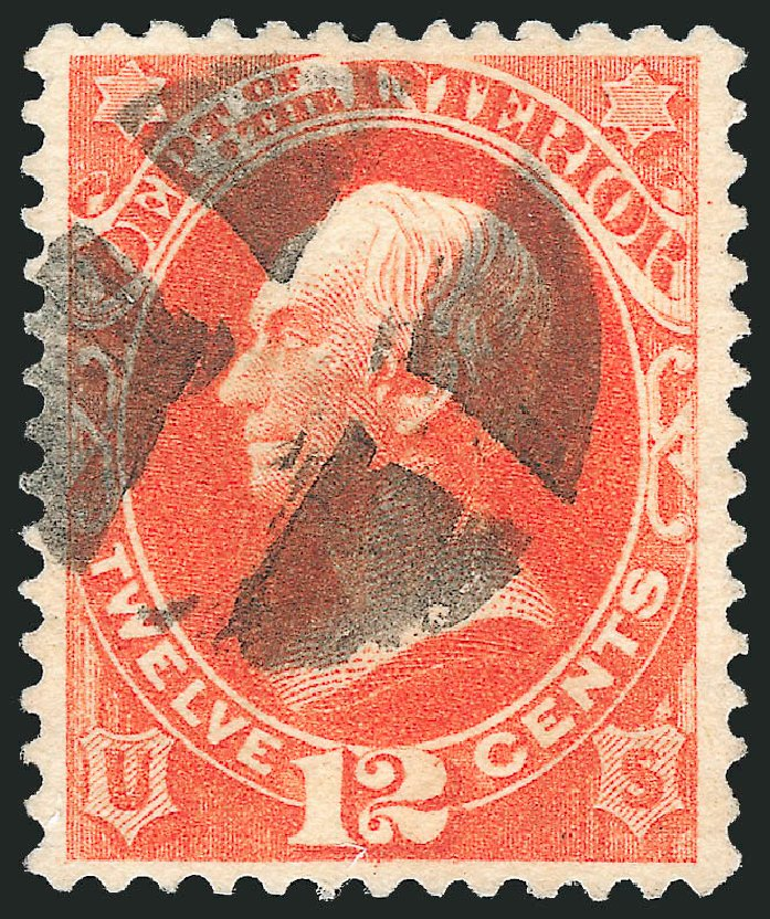 Values of US Stamps Scott Cat. O101 - 12c 1879 Interior Official. Robert Siegel Auction Galleries, Dec 2013, Sale 1062, Lot 848