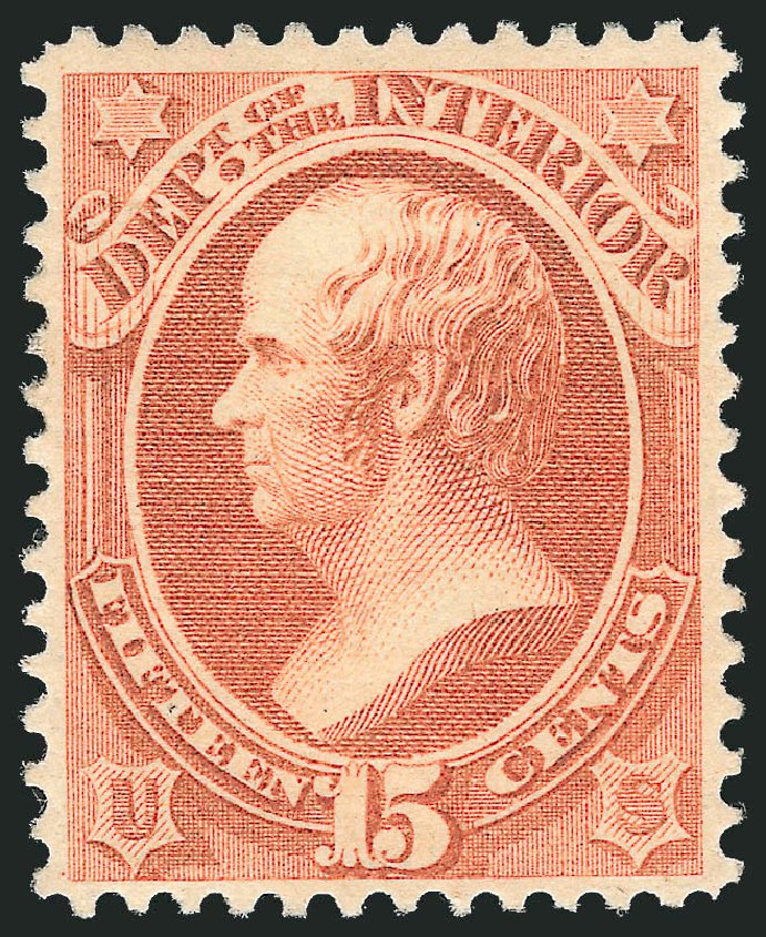Price of US Stamp Scott Cat. #O102 - 15c 1879 Interior Official. Robert Siegel Auction Galleries, Mar 2013, Sale 1040, Lot 2165
