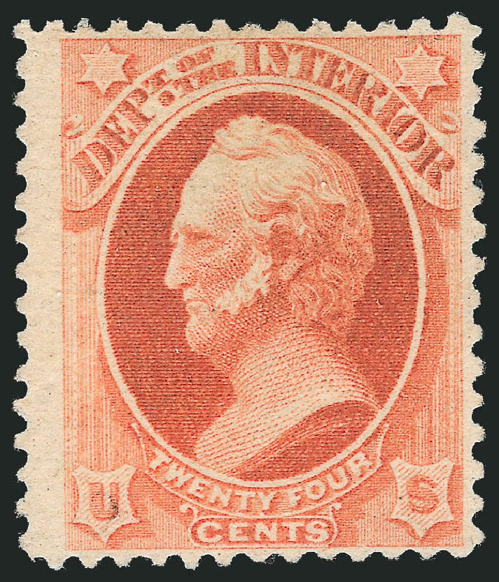 US Stamps Value Scott Cat. O103: 1879 24c Interior Official. Robert Siegel Auction Galleries, Mar 2014, Sale 1067, Lot 1727