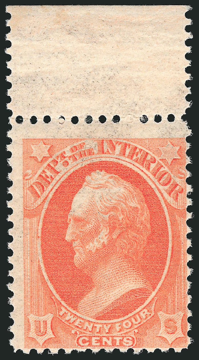 Values of US Stamps Scott Cat. O103: 24c 1879 Interior Official. Robert Siegel Auction Galleries, Mar 2014, Sale 1067, Lot 1728