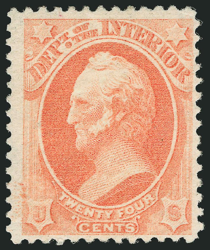 US Stamp Prices Scott Catalog #O103 - 1879 24c Interior Official. Robert Siegel Auction Galleries, Nov 2014, Sale 1085, Lot 4198