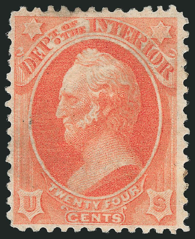 Values of US Stamp Scott Catalog # O103 - 1879 24c Interior Official. Robert Siegel Auction Galleries, Dec 2014, Sale 1090, Lot 1678