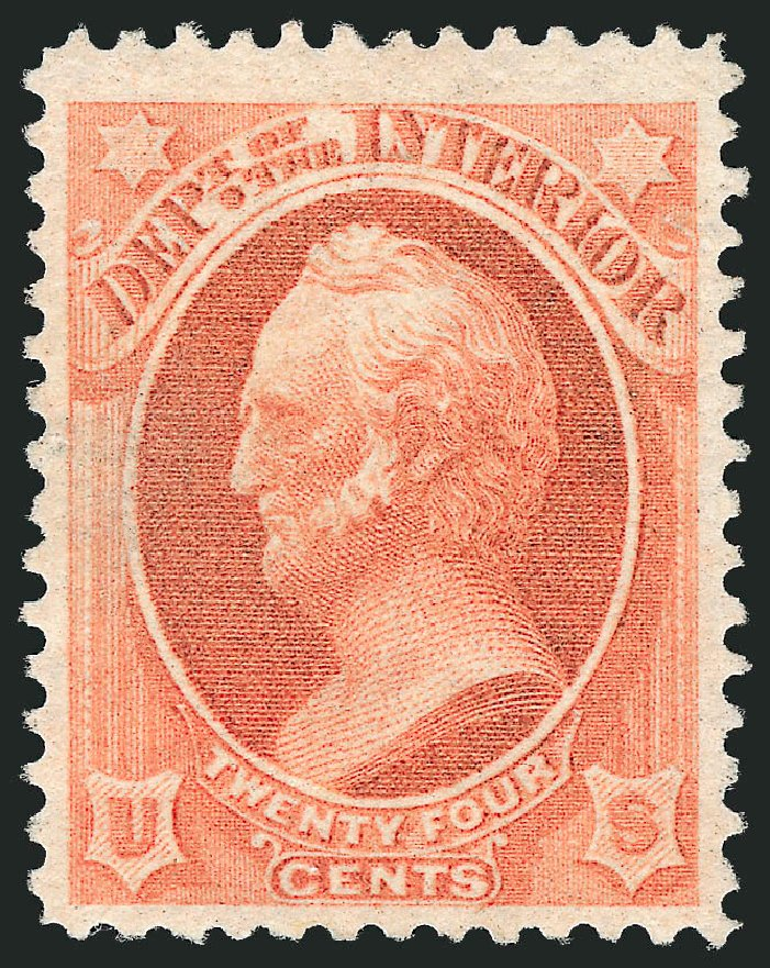 Cost of US Stamp Scott O103 - 24c 1879 Interior Official. Robert Siegel Auction Galleries, Dec 2013, Sale 1062, Lot 849