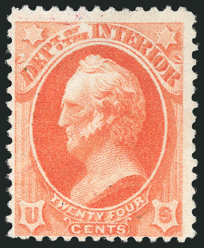 US Stamp Price Scott O103 - 1879 24c Interior Official. Robert Siegel Auction Galleries, Mar 2014, Sale 1067, Lot 1729