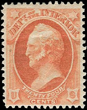 US Stamps Price Scott #O103: 24c 1879 Interior Official. Regency-Superior, Nov 2014, Sale 108, Lot 1230