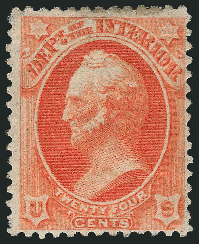 Value of US Stamp Scott Catalog # O103 - 24c 1879 Interior Official. Robert Siegel Auction Galleries, Apr 2015, Sale 1096, Lot 901
