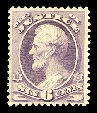 US Stamps Prices Scott Catalogue # O107: 1879 6c Justice Official. Cherrystone Auctions, Jul 2015, Sale 201507, Lot 2229