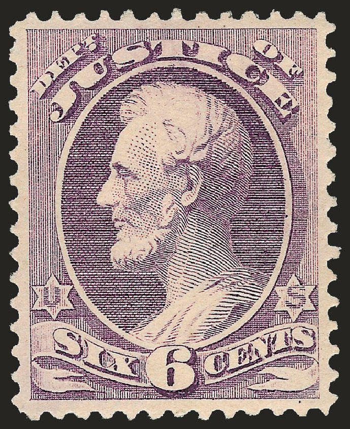 Costs of US Stamps Scott Catalogue # O107: 1879 6c Justice Official. Robert Siegel Auction Galleries, Apr 2010, Sale 984, Lot 1163