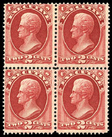 US Stamp Values Scott Catalog O11: 2c 1873 Executive Official. Matthew Bennett International, Mar 2011, Sale 337, Lot 3168
