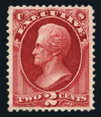 US Stamps Value Scott #O11 - 2c 1873 Executive Official. Harmer-Schau Auction Galleries, Aug 2014, Sale 102, Lot 2199