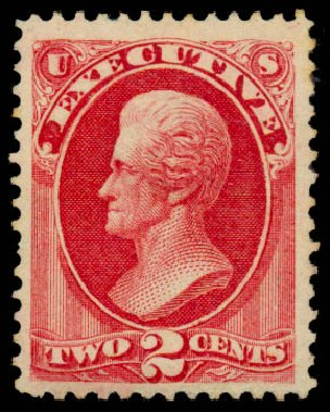 Cost of US Stamps Scott Catalog # O11 - 2c 1873 Executive Official. Daniel Kelleher Auctions, Sep 2013, Sale 639, Lot 471