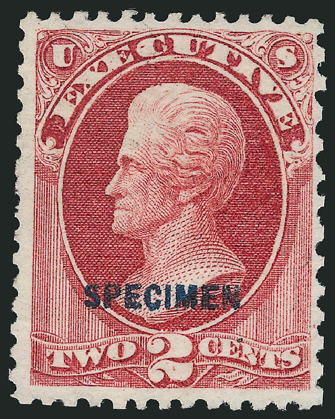 US Stamps Price Scott Catalog # O11 - 1873 2c Executive Official. Robert Siegel Auction Galleries, Sep 2014, Sale 1078, Lot 671