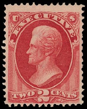 Cost of US Stamps Scott #O11: 2c 1873 Executive Official. Daniel Kelleher Auctions, Jun 2012, Sale 630, Lot 2104
