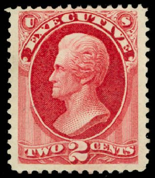 Cost of US Stamps Scott Cat. O11: 2c 1873 Executive Official. Daniel Kelleher Auctions, Jan 2015, Sale 663, Lot 2144