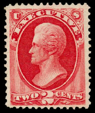 US Stamps Prices Scott Catalogue # O11 - 2c 1873 Executive Official. Daniel Kelleher Auctions, Dec 2013, Sale 640, Lot 592