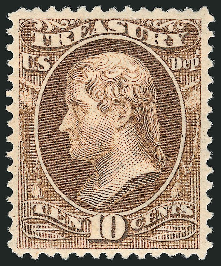 Costs of US Stamps Scott Catalog O111 - 10c 1879 Treasury Official. Robert Siegel Auction Galleries, Mar 2014, Sale 1067, Lot 1730
