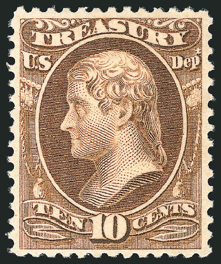 US Stamp Price Scott Cat. #O111: 10c 1879 Treasury Official. Robert Siegel Auction Galleries, Nov 2014, Sale 1085, Lot 4203