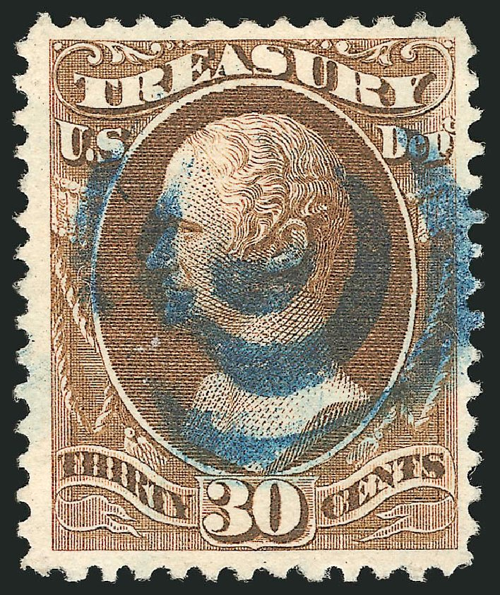 US Stamps Value Scott Cat. # O112 - 30c 1879 Treasury Official. Robert Siegel Auction Galleries, Dec 2013, Sale 1062, Lot 851