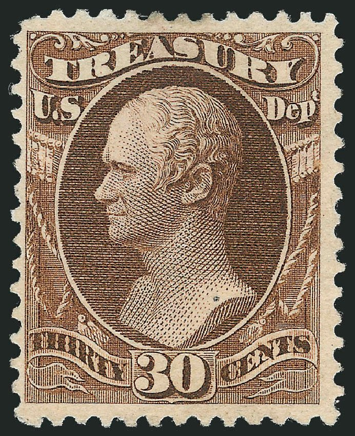 US Stamp Price Scott Catalog O112: 30c 1879 Treasury Official. Robert Siegel Auction Galleries, Nov 2013, Sale 1061, Lot 4193