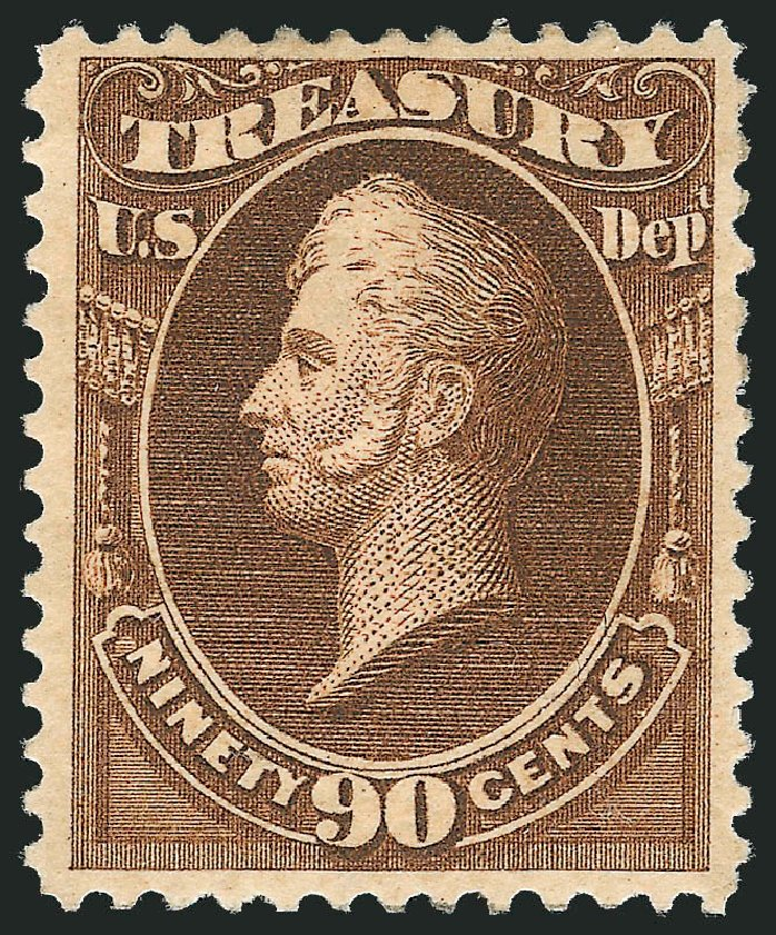 Cost of US Stamp Scott Catalog #O113: 1879 90c Treasury Official. Robert Siegel Auction Galleries, Mar 2013, Sale 1040, Lot 2167