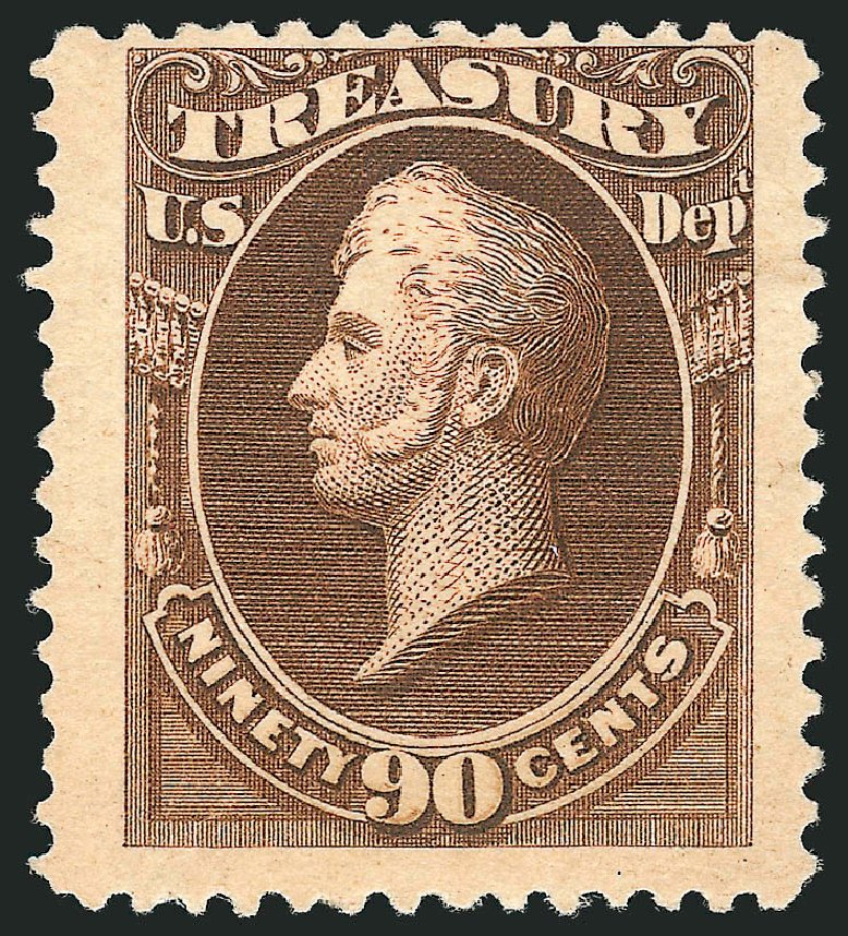 Price of US Stamps Scott Cat. #O113: 90c 1879 Treasury Official. Robert Siegel Auction Galleries, Nov 2014, Sale 1085, Lot 4207